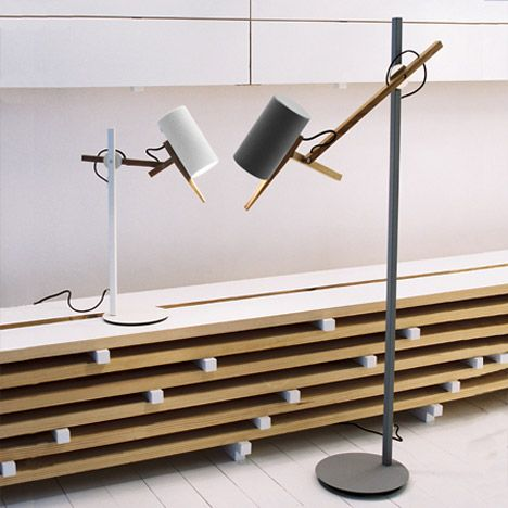 London designer Mathias Hahn's Scantling lamps are now being produced by Marset.