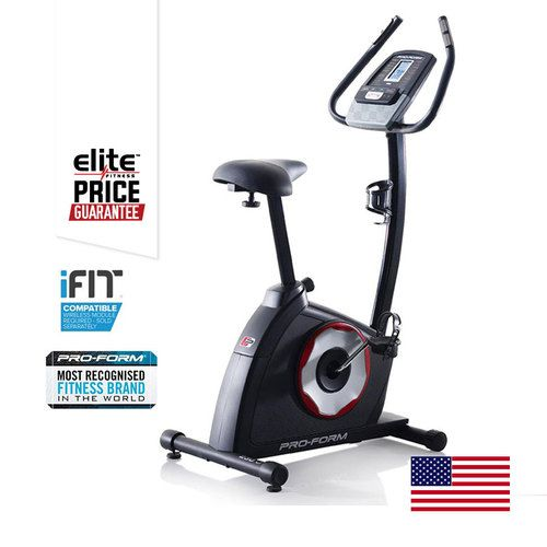 PROFORM 230 ZLX EXERCYCLE- 14 Workout Apps Designed by a Certified Personal Trainer-  LCD Display - Speed, Distance, Time, Pulse and Calories Burned- 16 Digital SMR™ Resistance Levels -  Step-thru Design- Intermix™ Acoustics 2.0 Sound System- Dual-grip EKG™ Heart Rate Monitor