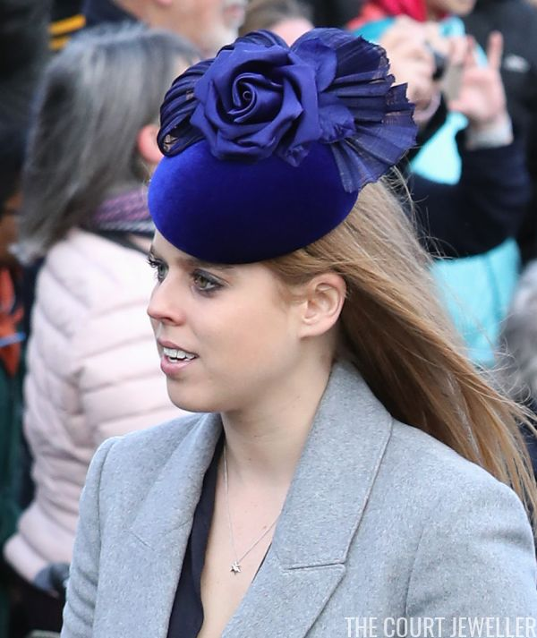 thecourtjeweller: Christmas Day Service, St. Mary Magdalene Church, December 25, 2017-Princess Beatrice
