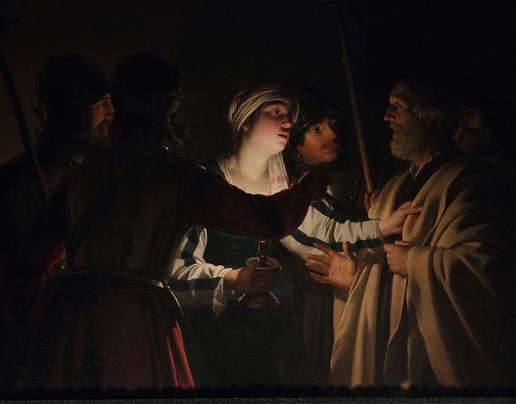 Le Reniement de saint Pierre by Gerrit van Honthorst - Gerard van Honthorst
