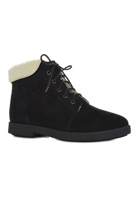 Primark Black Lace-Up Sheepskin Boots, £15, In Store Only