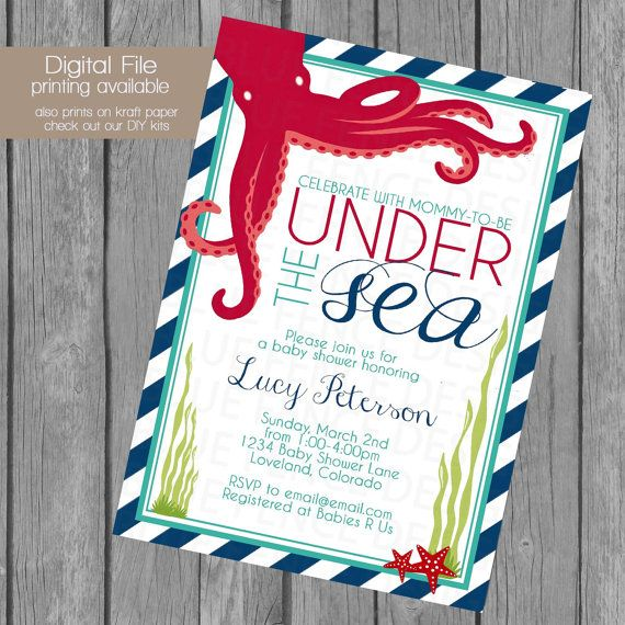 Fish Themed Baby Shower Invitations: Best 25+ Ocean Baby Showers Ideas On Pinterest