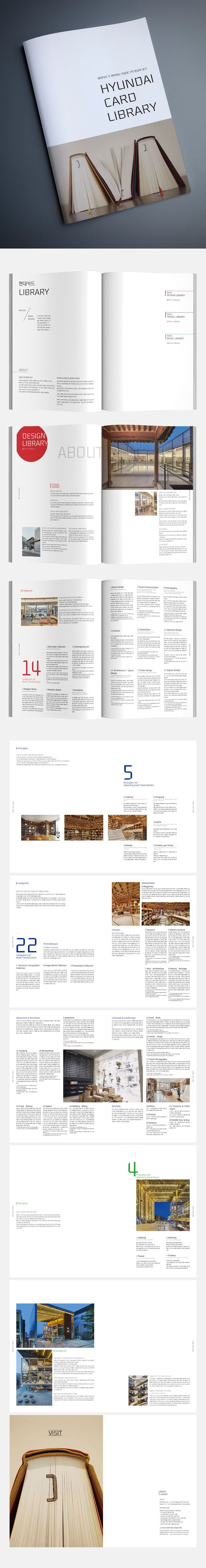 <현대카드 라이브러리> 브로슈어 - 그래픽 디자인, 브랜딩/편집
