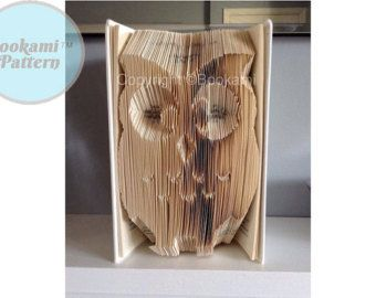 Book Folding/Art Pattern 'Owl' (503 Pages/252 Folds) + Free Tutorial!
