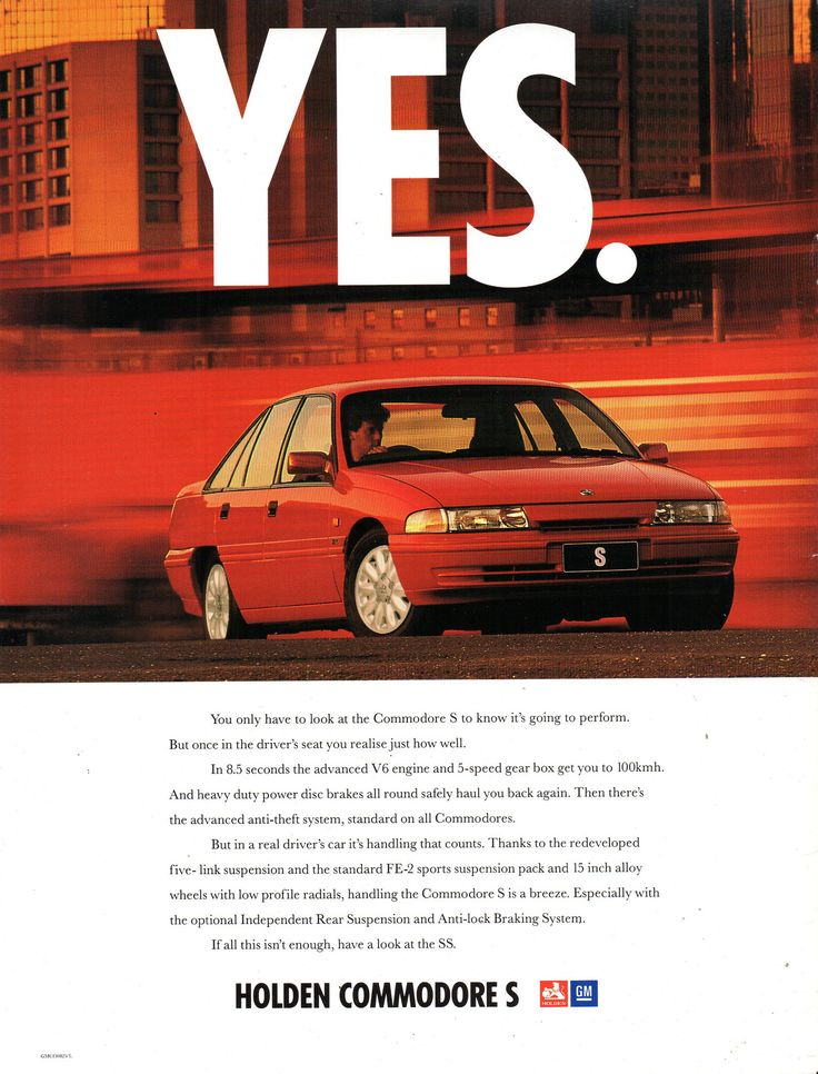 https://flic.kr/p/JhPXBK | 1993 VP Holden Commodore S 3.8 Litre V6 & SS 5.0 Litre V8 Sedan Page 1 Aussie Original Magazine Advertisment