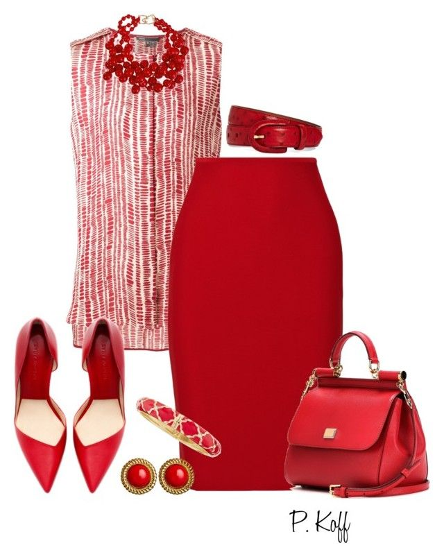 """ALL Red!"" by pkoff ❤ liked on Polyvore"