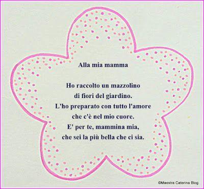 Maestra Caterina: Poesia e lavoretto festa della mamma