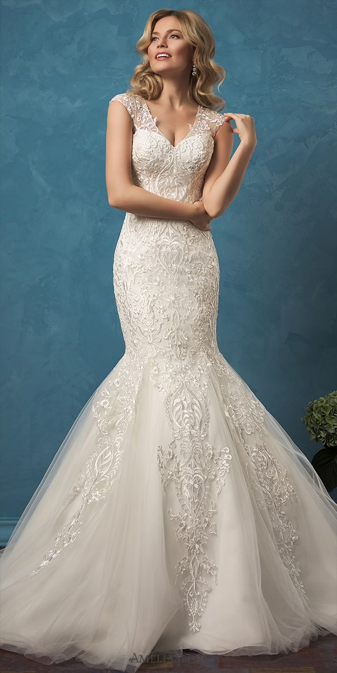 The 32 best Lace Wedding Dresses images on Pinterest | Wedding ...