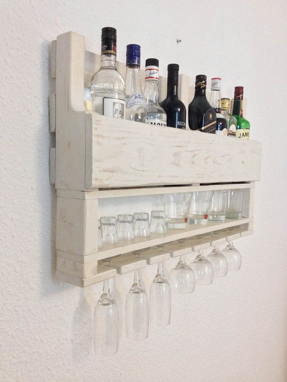 Gorgeous rustic wine and whiskey rack for the by APT8ecodesign