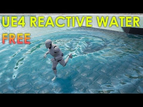 14) FREE Unreal Engine 4 Reactive Dynamic Water 3D Project Download