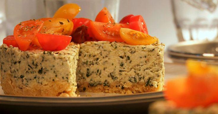 Découvrez cette recette de Gâteau au fromage et au pesto pour 4 personnes, vous adorerez!
