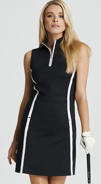 Spanish Rouge (Black & White) Tail Ladies Dylan Sleeveless Golf Dress at #lorisgolfshoppe
