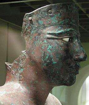 Lifesize copper statue of Pepi I