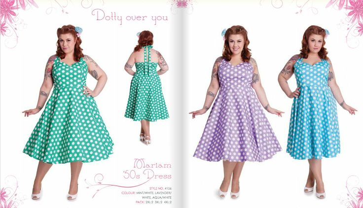 Mariam Dress in large polka dots , perfect for the rockabilly girl this spring and summer