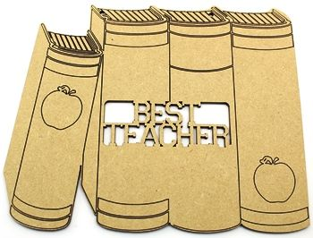 Approx.20cm x 16cm, 3mm MDF Stack of books. Stack of books.Great teacher gift with engraved lines Pre sanded and ready to decorate Teacher and Teaching assistant gifts ready to paint. http://www.lornajayne.co.uk