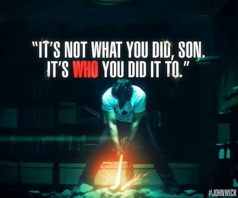 John Wick... Movie quote.. #wise #words ;)