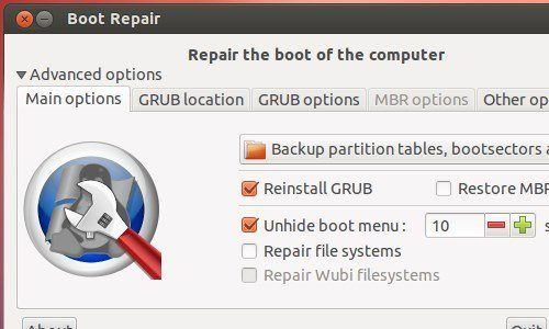 Boot-Repair-Disk is rescue disk based on Linux bootable fit into one CD. It is a simple tool to repair frequent boot issues for your Windows or Linux Operating System.