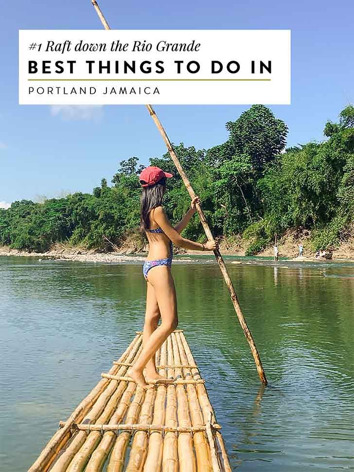 Take a relaxing raft ride on the Rio Grande river in Jamaica. For more things to do in Port Antonio and Portland, click through!