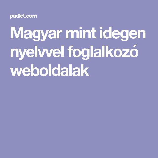 Magyar mint idegen nyelvvel foglalkozó weboldalak