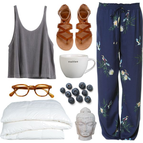 summer mornings by beachy-palms on Polyvore featuring polyvore, Mode, style, Zara, Crate and Barrel and Puji