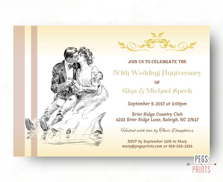 50th Wedding Invitation Templates: Best 25+ Anniversary Invitations Ideas On Pinterest
