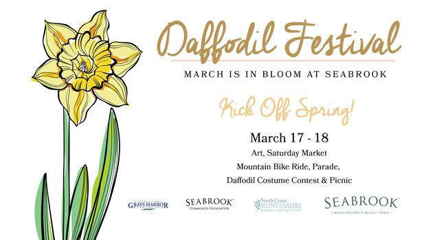 DAFFODIL FESTIVAL - MARCH IS IN BLOOM AT SEABROOK All weekend- Window-decorating competition to celebrate Spring at all of our town merchants