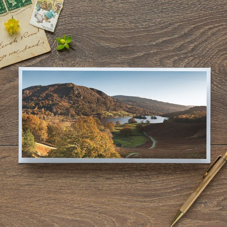 Single Blank Card by landscape photographer Nina K Claridge – Rydal in Autumn