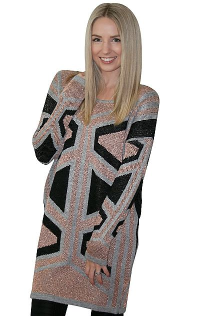 Elliatt Columns Knit Tunic » online clothing shop with top fashion brand dresses, tops, skirts, jackets for women.