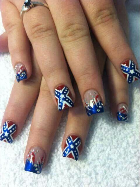 30 Curated Camo Country Girl Nails Ideas By Ktroubl Duke Red White Blue And Country Girls