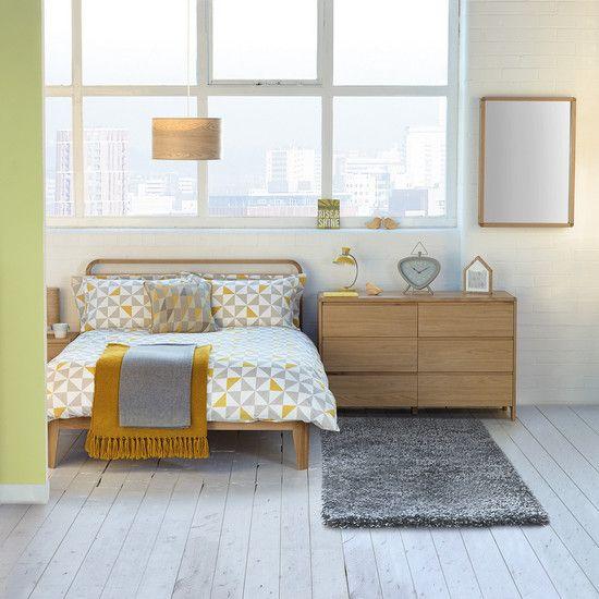 Yellow Skandi Geo Bed Linen Collection | Dunelm