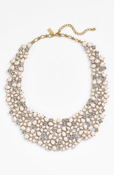 This Kate Spade crystal and faux pearl collar necklace is so lovely.