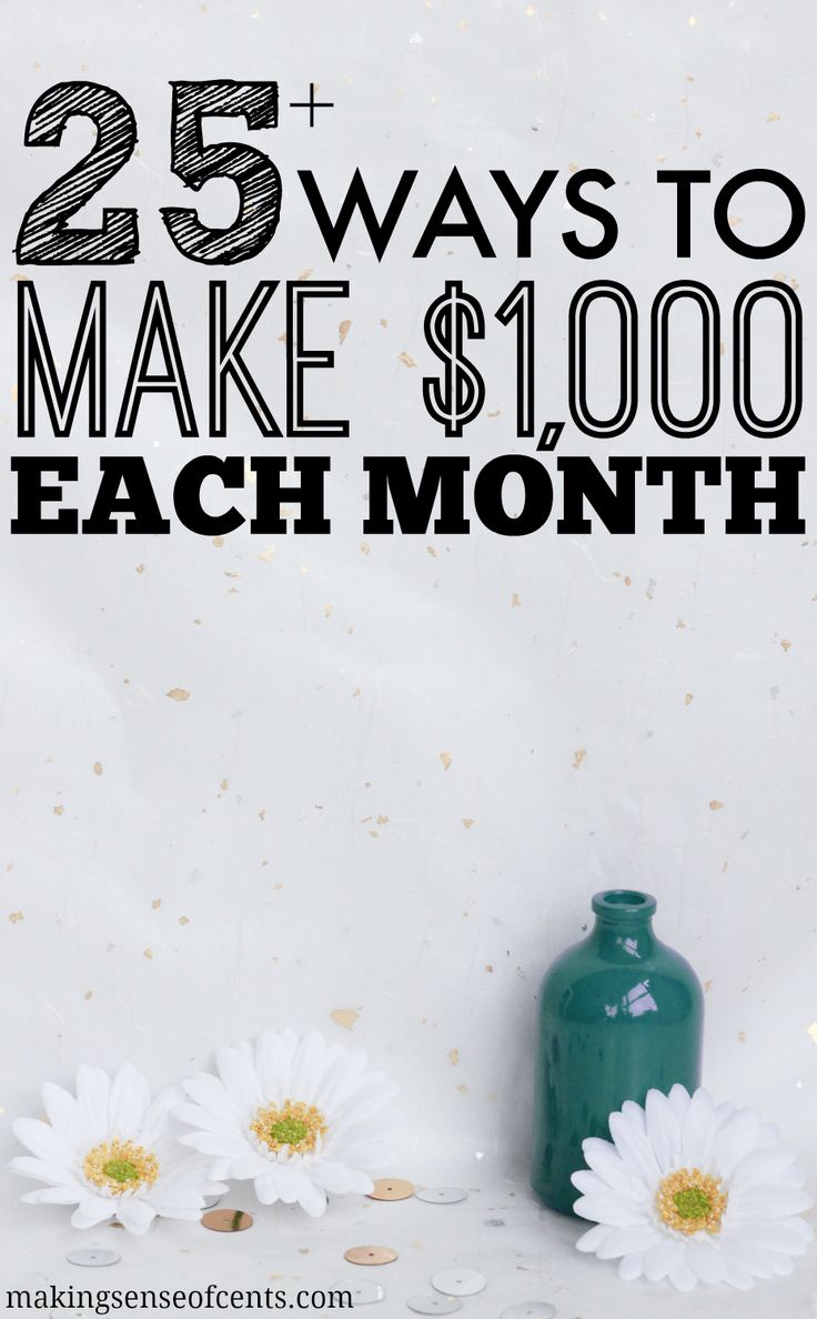There are many ways to make extra money each month. In this post, you'll learn about the many ways to make an extra $1,000 a month!