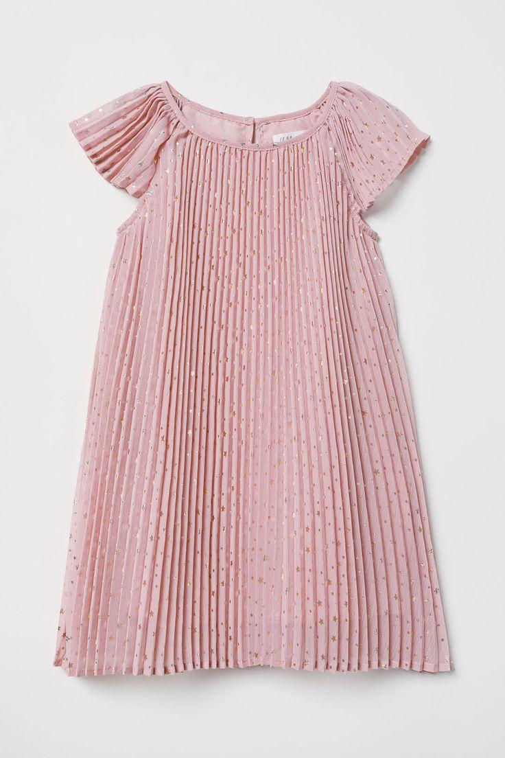 H&m pink pleated dress   best amanda images on Pinterest