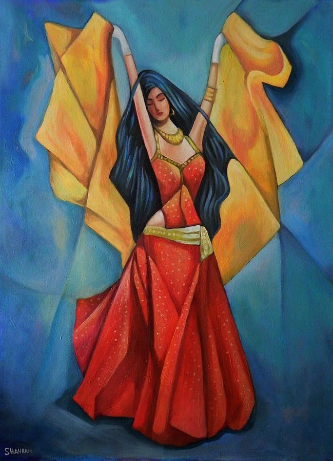Arabic dance Painting - Arabic dance Fine Art Print