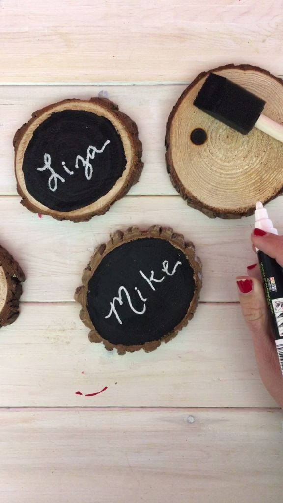 How to DIY Rustic Placecards