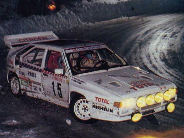 Group B: Citroen BX 4TC Rally car.