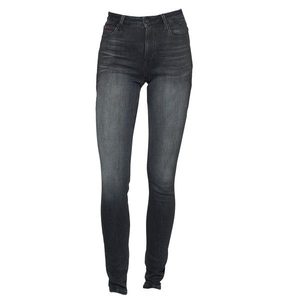Tommy Hilfiger High Rise Skinny Santana Jeans ($56) ❤ liked on Polyvore featuring jeans, sale women jeans, gray jeans, tommy hilfiger skinny jeans, high rise jeans, grey high waisted skinny jeans and tommy hilfiger jeans