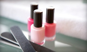 Groupon - One or Two Regular or Shellac Manicures with Mini Pedicures at Creative Strands Hair and Bodyworks (Up to 55% Off) in Sutton. Groupon deal price: $21.00