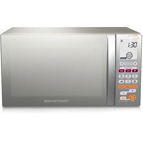 (Americanas.com) Microondas Brastemp BMT45 Ative ! 30 Litros Função Smart Food Inox - de R$ 699 por R$ 501.09 (29% de desconto)