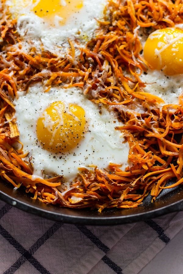 Easy Sweet Potatoes + Eggs