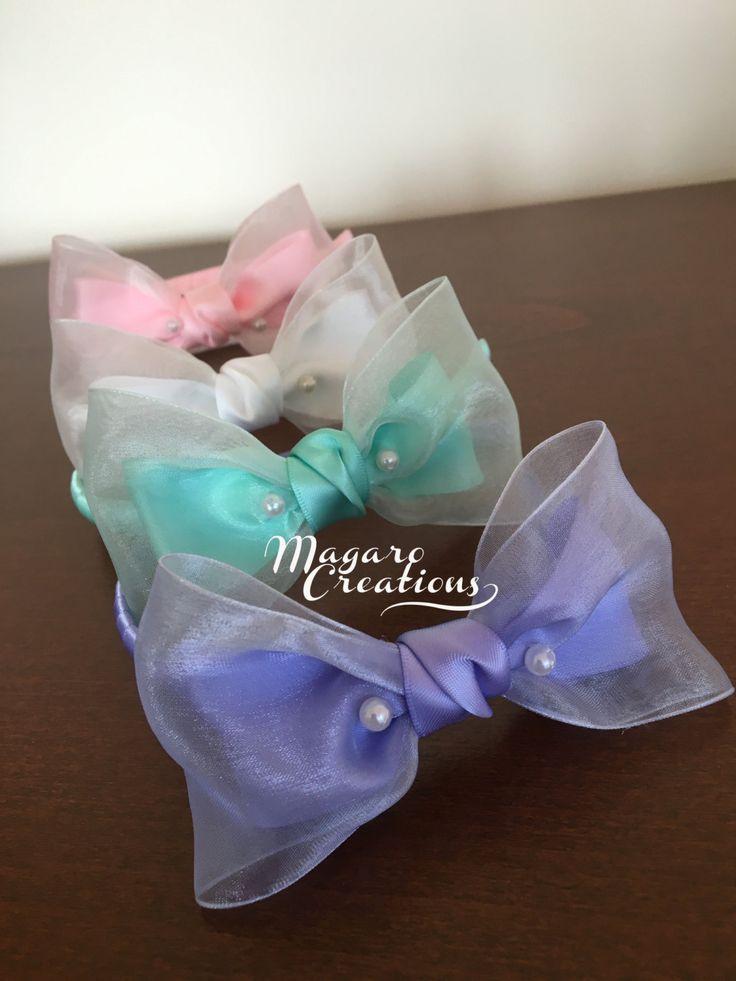 La venda Aqua accesorio del pelo de chica venda por MagaroCreations