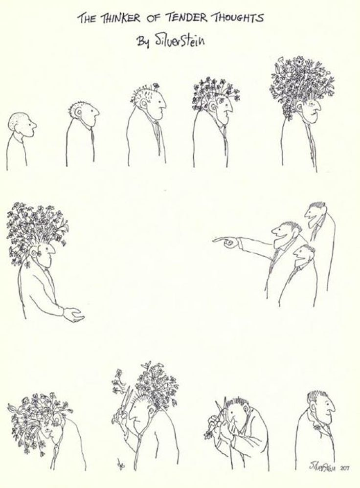 The thinker of tender thoughts by Shel Silverstein
