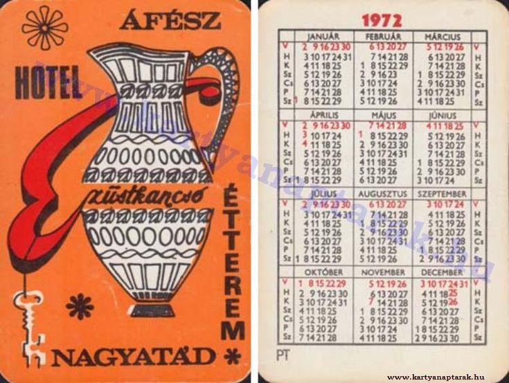 1972 - 1972_0622 - Régi magyar kártyanaptárak