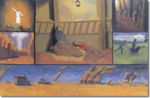 Nativity Polyptych by Francis Hoyland (1930-)