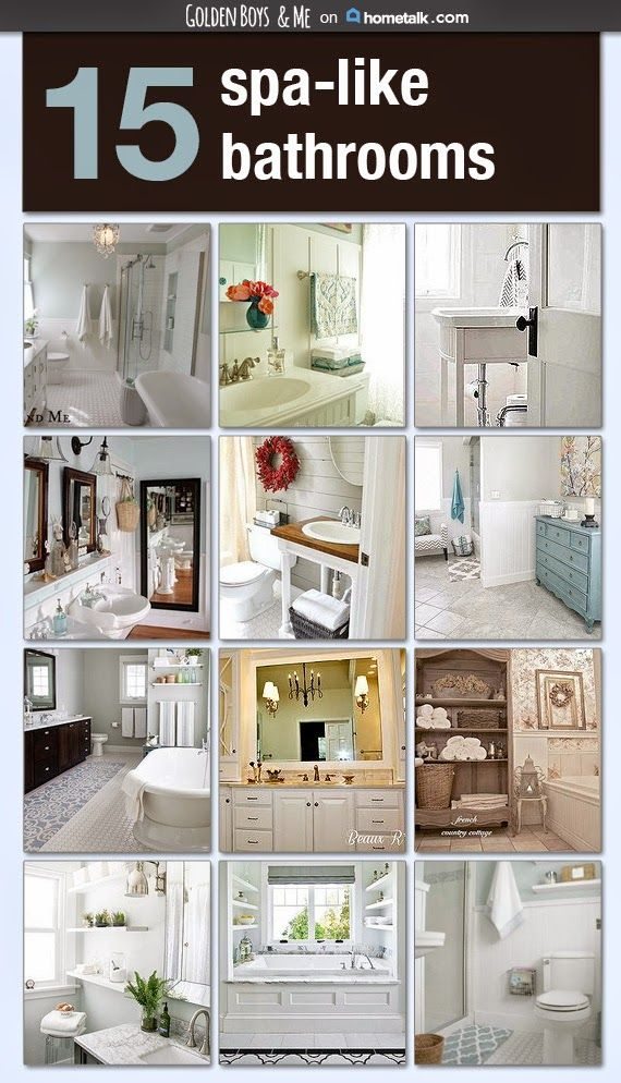 Awesome Websites  spa like bathrooms curated on an inspiration board by Golden Boys and Me