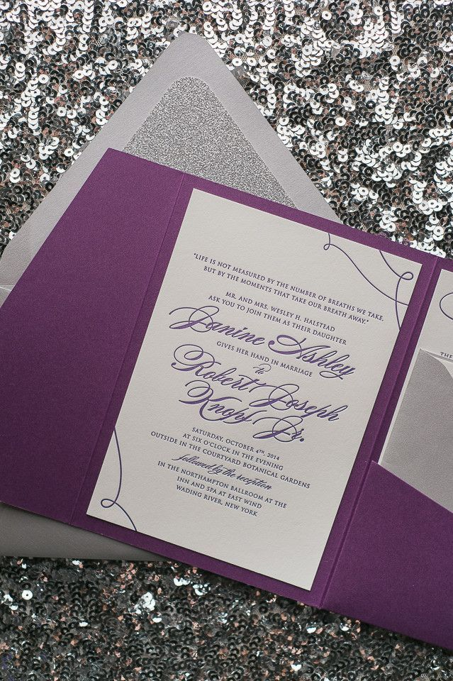 LAUREN Suite Glitter Pocket Folder Package silver