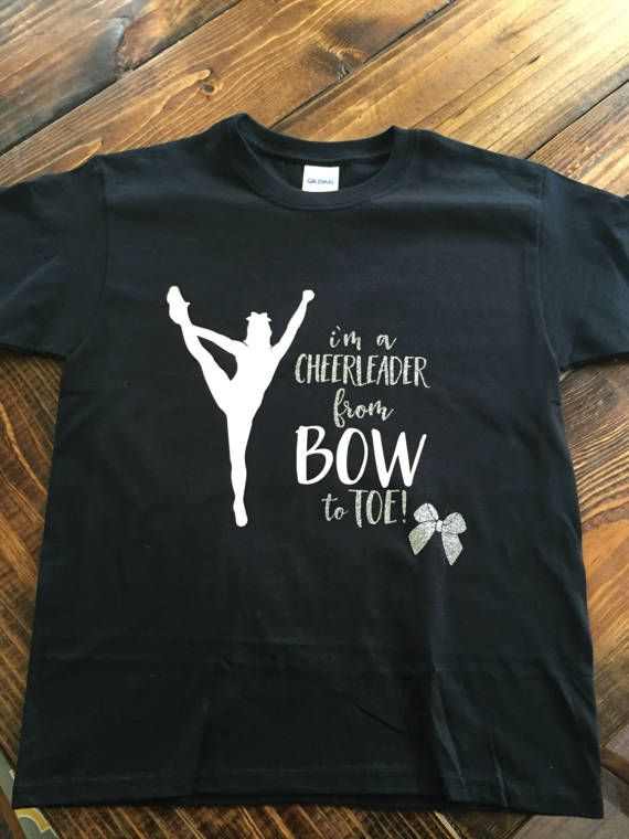 Youth Cheerleader Bow to Toe Sparkle Shirt