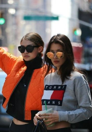 Gigi and Bella Hadid have been sported wearing throwback Tommy Hilfiger gear, and now we want some! Click for more celebrity style pictures and to find out where to buy yours now.