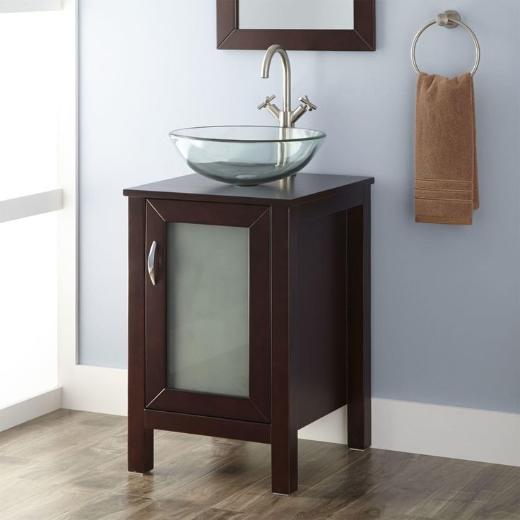 19 Quot Massey Vanity Cabinet With Vessel Sink Small Master