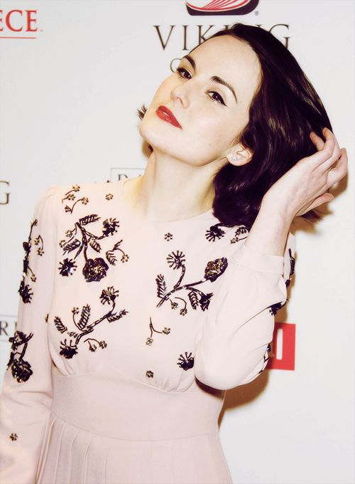 Michelle Dockery at the Downton Abbey Season 4 cast photo call at Millenium Hotel, New York City, December 10